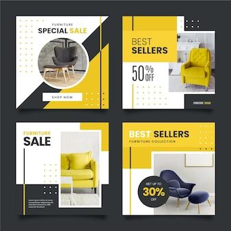 Colección de publicaciones de ig de venta de muebles con foto