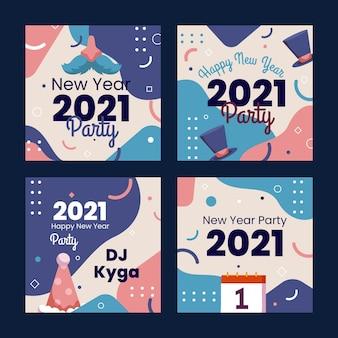 Colección de publicaciones de instagram año nuevo 2021