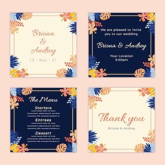Colección de publicaciones de instagram de boda