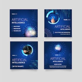 Colección de publicaciones de instagram para ciencia de inteligencia artificial