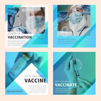 Colección de publicaciones de instagram de coronavirus plano orgánico