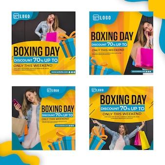 Colección de publicaciones de instagram del día del boxeo