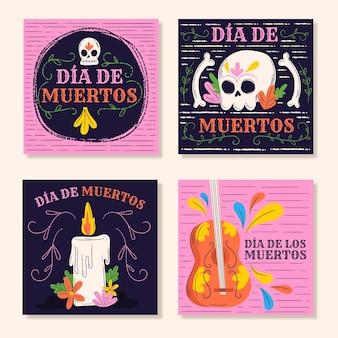 Colección de publicaciones de instagram de dia de muertos