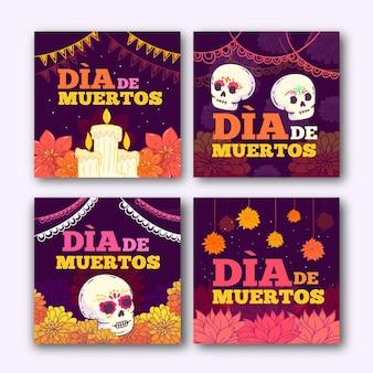 Colección de publicaciones de instagram del día de muertos