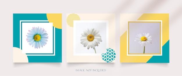 Colección de publicaciones de instagram para un estilo minimalista