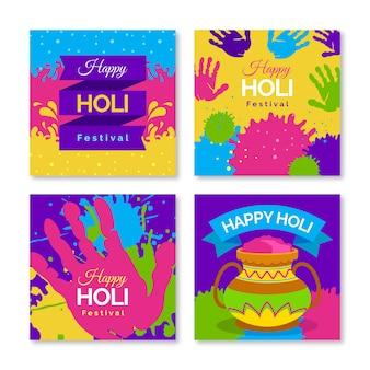 Colección de publicaciones de instagram para el festival holi