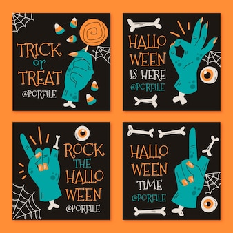 Colección de publicaciones de instagram de halloween