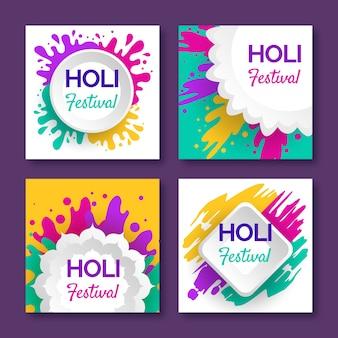 Colección de publicaciones de instagram para holi