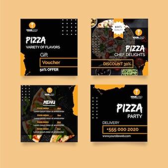Colección de publicaciones de instagram para pizzerías