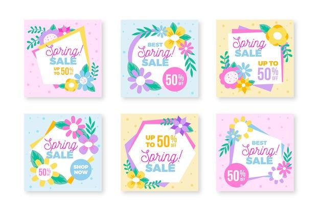 Colección de publicaciones de instagram para la primavera