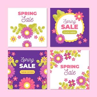Colección de publicaciones de instagram de primavera