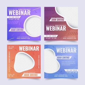 Colección de publicaciones de instagram de seminarios web