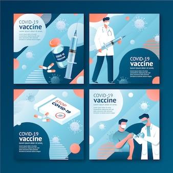 Colección de publicaciones de instagram de vacuna gradiente