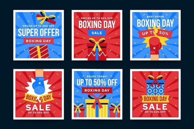 Colección de publicaciones de instagram de venta de boxing day