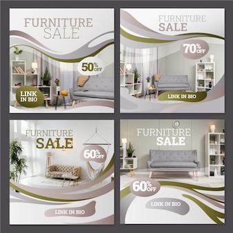 Colección de publicaciones de instagram de venta de muebles degradados