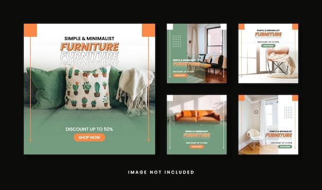Colección de publicaciones de instagram de venta de muebles minimalistas