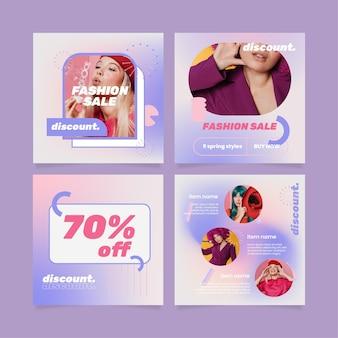 Colección de publicaciones de instagram de venta