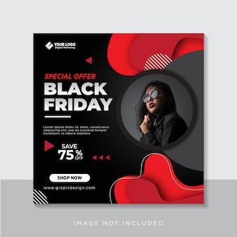 Colección de publicaciones de instagram del viernes negro