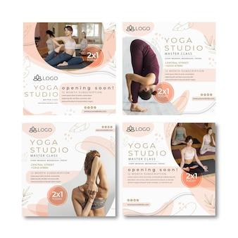 Colección de publicaciones de instagram de yoga