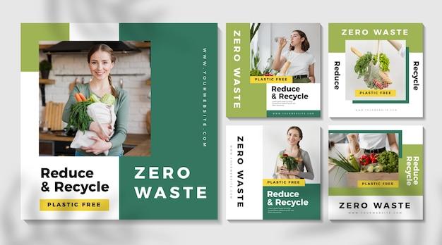 Colección de publicaciones de instagram zero waste