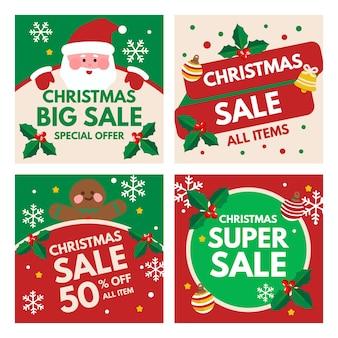 Colección de publicaciones navideñas de instagram
