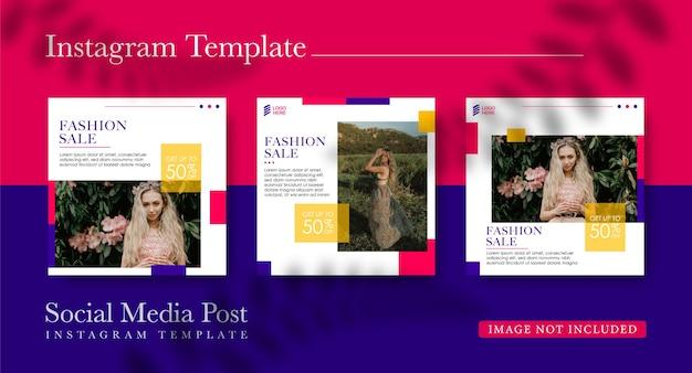 Colección de publicaciones en redes sociales para ventas de moda.