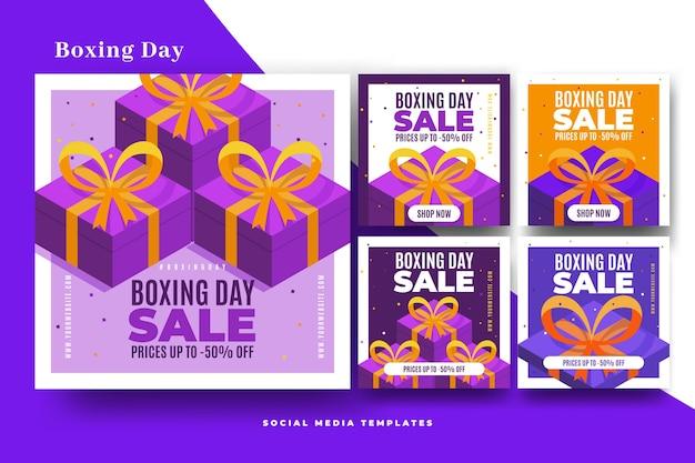 Colección de publicaciones de venta de instagram boxing day