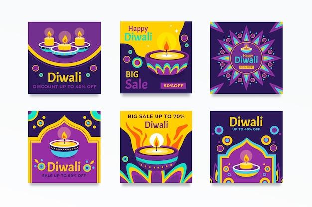 Colección de publicaciones de venta de instagram de diwali