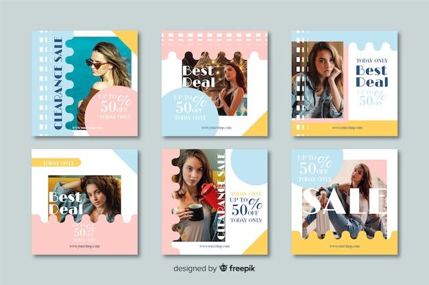 Colección de publicaciones de venta de instagram