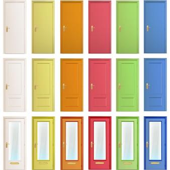 Colección de puerta multicolor