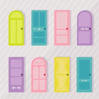 Colección de puertas de colores