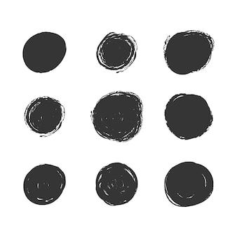 Colección de puntos grunge