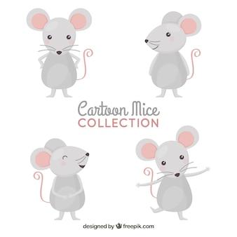 Colección de ratones de dibujos