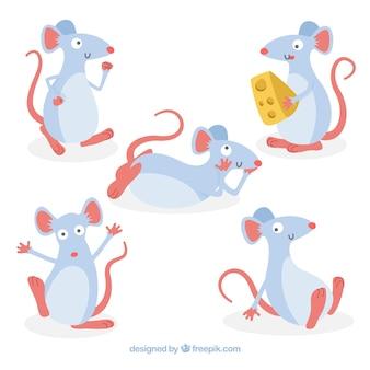 Colección de ratones hechos a mano