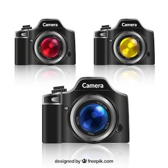 Colección realista de cámaras canon
