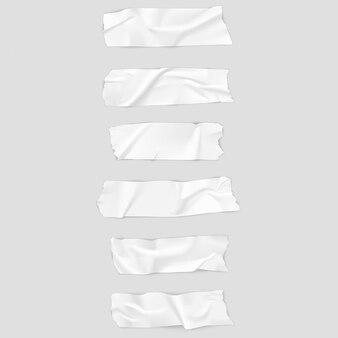 Colección realista de cintas adhesivas.