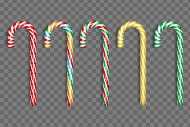 Colección realista de dulces navideños