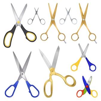 Colección realista de la familia scissor
