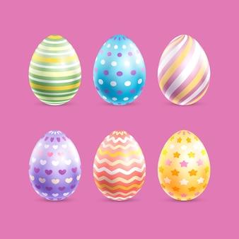 Colección realista de huevos de pascua