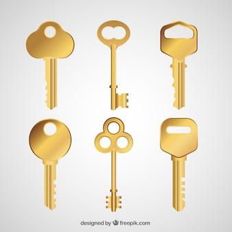 Colección realista de llaves