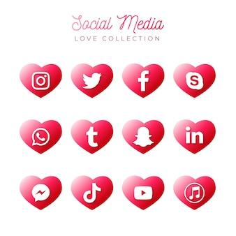 Colección de redes sociales
