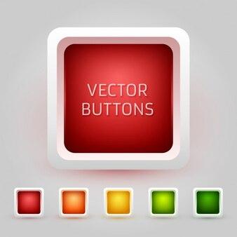 Colección redondeado botones cuadrado