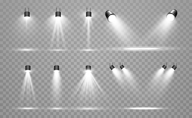 Colección de reflectores para iluminación escénica