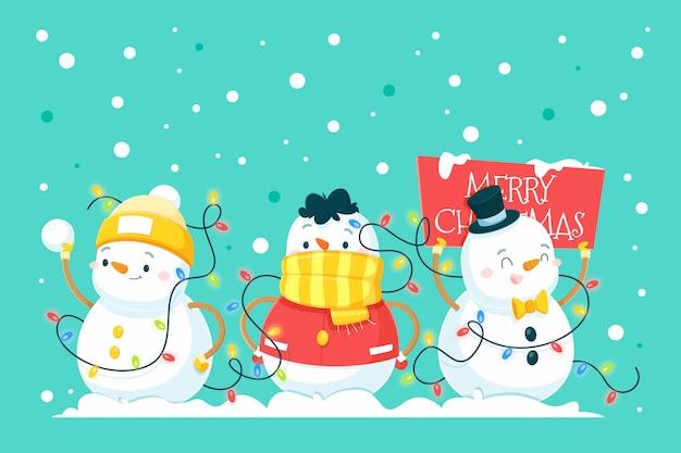 Colección de regalos de navidad realistas