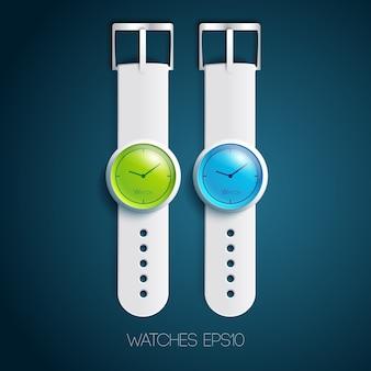 Colección de relojes modernos