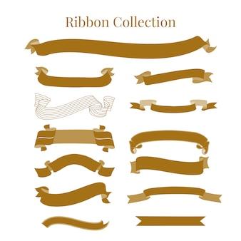 Colección de ribbons decorativos
