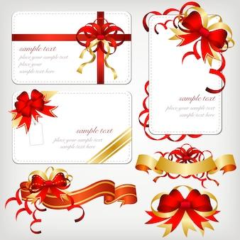 Colección de ribbons y tarjetas