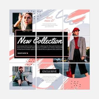 Colección de rompecabezas de instagram de moda mujer
