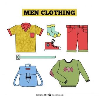 Colección de ropa dibujada para hombre