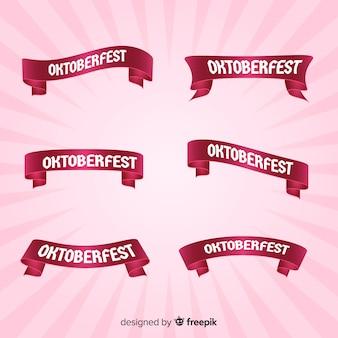Colección rosa de cintas del oktoberfest